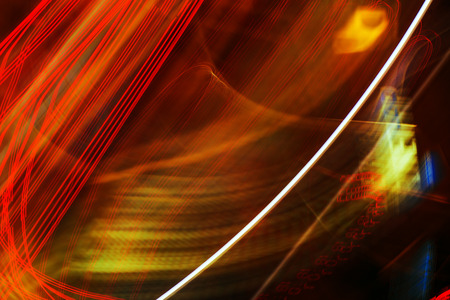 luminous: Abstract long exposure image of colorful city street light as urban background