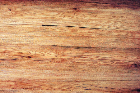 Rustic wooden board texture, table top view as background Imagens