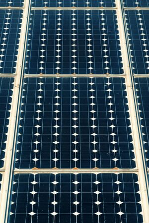 power industry: Solar panels surface, technology for renewable energy and power industry