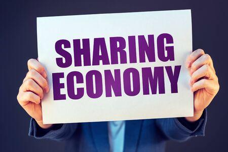 economic activity: Sharing economy concept, social and economic activity involving online transactions