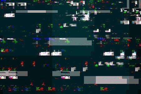 glitch: Digital tv damage, television broadcast glitch, abstract technology background