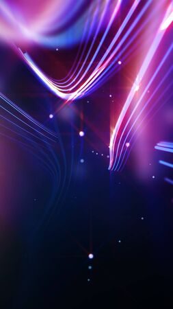 entertainment background: Streaking shiny purple lines as abstract background for business, science, technology or entertainment theme