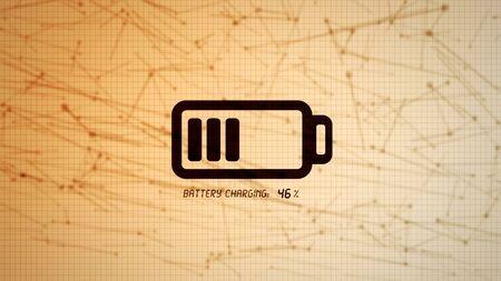 Icona della batteria carica illustrazione, energia elettrica ricaricabile per dispositivi elettronici mobili concetto Archivio Fotografico - 71474959