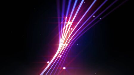 streaking: Streaking shiny purple lines as abstract background for business, science, technology or entertainment theme