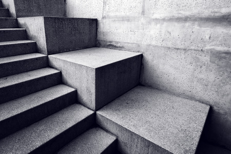 concrete structure: Urban concrete staircase, abstract architectural background, minimalistic lines and shapes with light and shadow