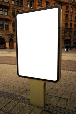 advertising space: Blank mockup outdoor advertising billboard as copy space for poster or commercial text message