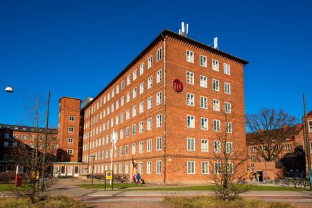 building exteriors: MALMO, SWEDEN - MARCH 10, 2017: Malmo University, Faculty of Odontology building. This faculty is one of the world�s leading institutes for dental education and research. It was established in 1948. Editorial