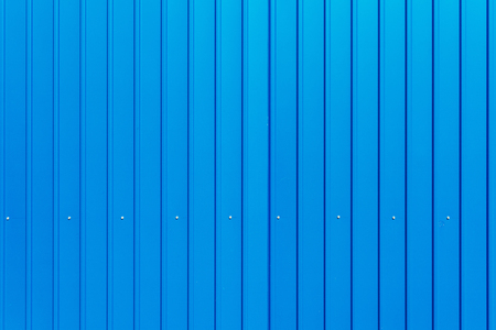 blue wall: Blue warehouse wall, metal plated surface of storage building facade