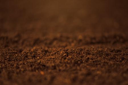 播種の準備農業耕地のマクロの表示をすぐに土壌