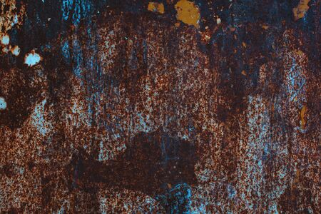 Rusty grunge texture, weathered corroded metal surface as background