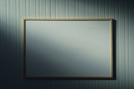 Blank whiteboard in the office, white board as copy space for business or education message text or graphics