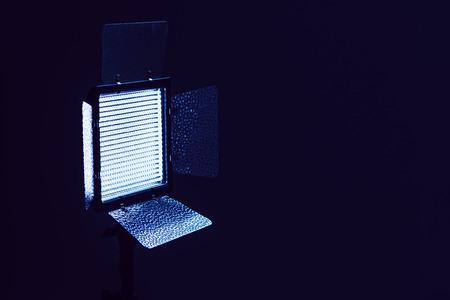 사진 및 비디오 제작을위한 LED 조명 장비, 선택적 초점 스톡 콘텐츠