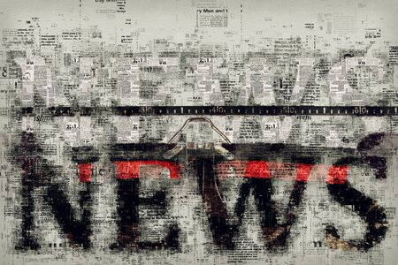 reportage: News and journalism, conceptual illustration for press, newspaper and media background