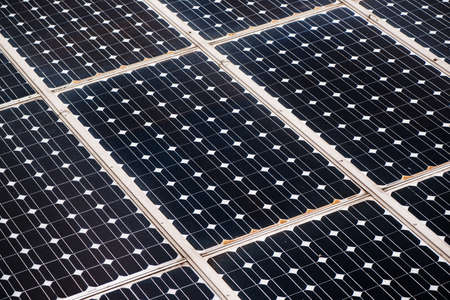 Solar panel photoelectric cells as abstract background
