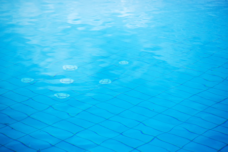 Abstract blue swimming pool water surface texture as background