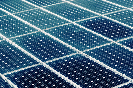 Solar panel surface, power industry and technology background, sun energy and renewable green power resources