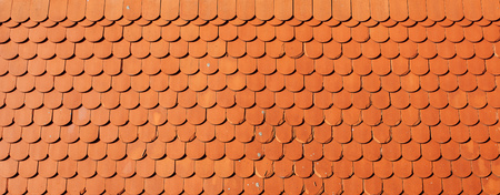 Roof tile texture, orange retro styled tiles as background