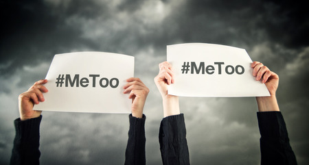 Hashtag MeToo, violence against women and sexual harassment conceptual image Imagens