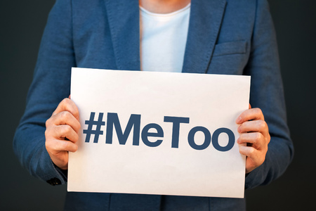 Hashtag MeToo, violence against women and sexual harassment conceptual image Reklamní fotografie