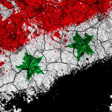 Grunge flag of Syria also known as Syrian Arab Republic, illustration
