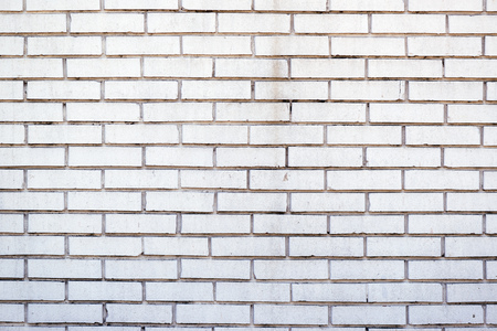 White brick wall pattern as abstract background Stock Photo
