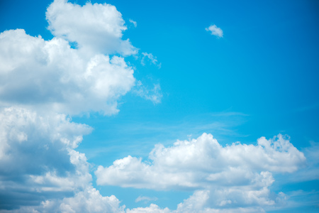 White clouds and blue sky, beauty in nature