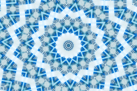 Organic abstract kaleidoscope pattern background, colorful reflective mirroring backdrop as graphic design element