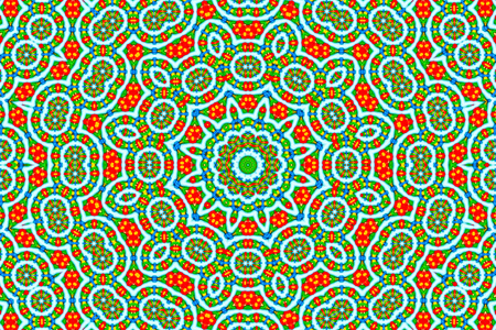 Psychedelic kaleidoscopic illusive symmetrical pattern as background, illustration