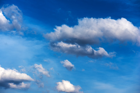 Beautiful white clouds on blue sky as real natural background Reklamní fotografie
