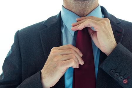 Businessman in elegant suit, well dressed male business person close up Banco de Imagens