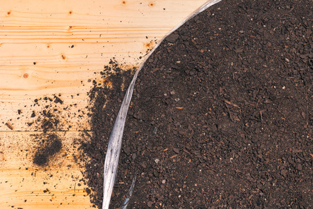 Fertile gardening soil top view as background Reklamní fotografie