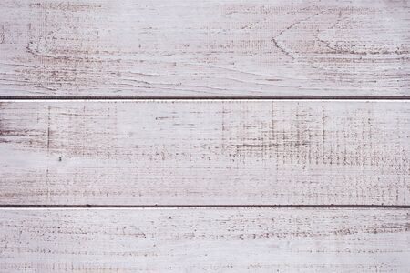Rustic white wooden planks as background, dry brush painted flooring boards Zdjęcie Seryjne