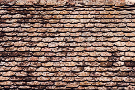 Old roof tile pattern, weather worn surface