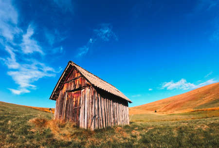 Traditional wooden cottage in south-west Serbia in mount Zlatibor region