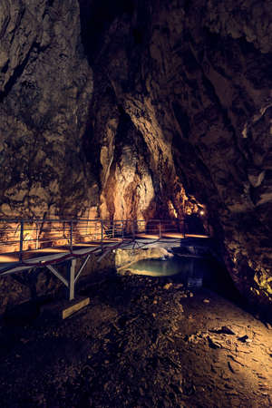 Inside of Stopica cave in Zlatibor region, Serbia Banque d'images