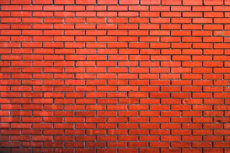 Red brick wall background, urban pattern texture