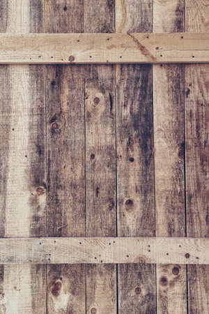 Background of old worn wooden planks connected with nails Banque d'images