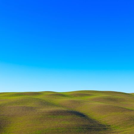 Tuscany: typical landscape. Rolling hills near Siena. photo