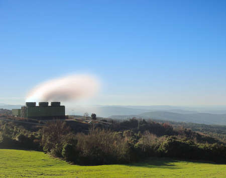 Geothermal energy  A power station for sustainable  Larderello, Tuscany, Italy photo