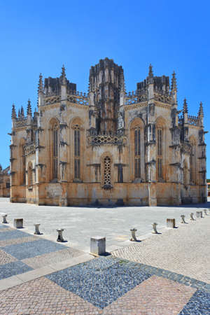 historic site: Batalha Monastery  Unesco world heritage site, in the district of Leiria, Estremadura, Portugal  Build 1386-1517