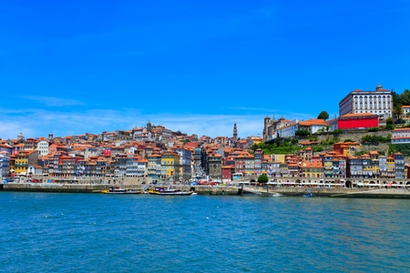 oporto: Porto skyline. A cityscape along the Douro river. Stock Photo