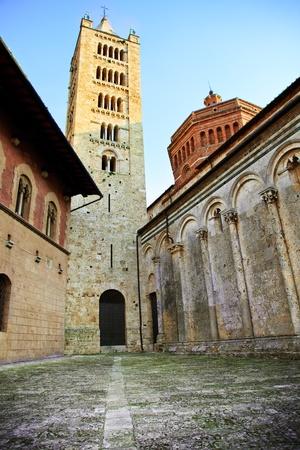 massa: San Cerbone cathedral (also known as Duomo), historic centre of Massa Marittima. Tuscany, Italy.