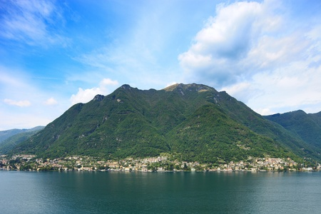 lake como: Laglio village, Como Lake district landscape  Laglio is famous due to George Clooney italian Villa Oleandra residence, on left side on this image  Lombardy, Italy, Europe