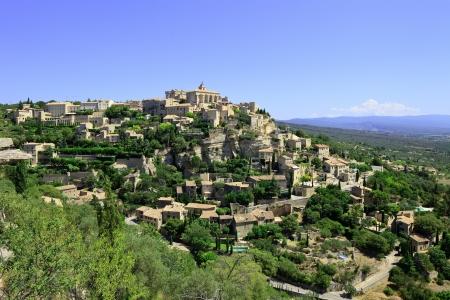 luberon: Gordes Medieval Village built on a rock hill in Luberon, Provence Cote Azur Region, France.