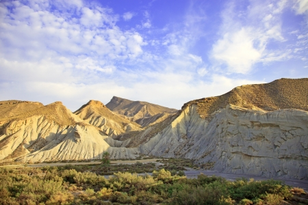 sierra: Tabernas desert, in spanish Desierto de Tabernas  Europe only desert  Almeria, andalusia region, Spain  Protected wilderness area and location for spaghetti western movies