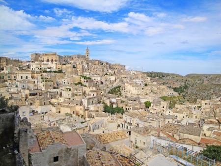 matera: Matera ancient town i sassilandmark  Basilicata, Italy, Europe