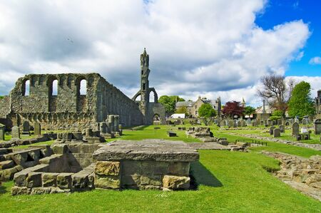 St Andrews Cathedral ruins medieval landmark  Fife, Scotland, United Kingdom, Europe photo