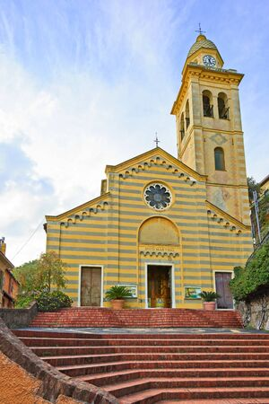 martino: Portofino, San Martino medieval catholic church landmark  Liguria, Italy