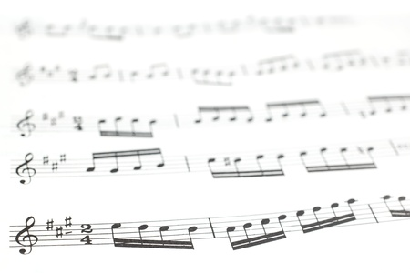 musical score: Old printed music sheet or score photography close up  Musical notes on staves