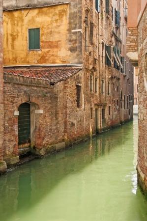 Venice cityscape, narrow old water canal and traditional buildings  Italy, Europe  Stock Photo - 17676557